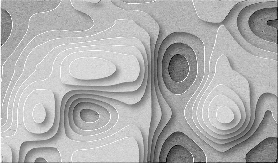 טפט צורות חורים תלת מימדי