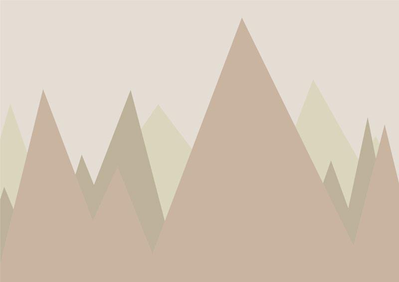 טפט הרים מחודדים לחדרי ילדים בגוון חום