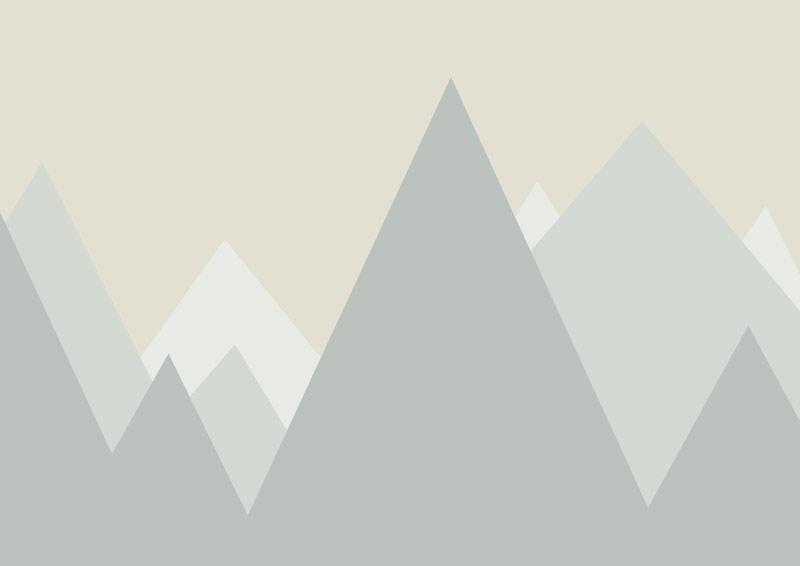 טפט הרים מחודדים לחדרי ילדים בגוון עדין