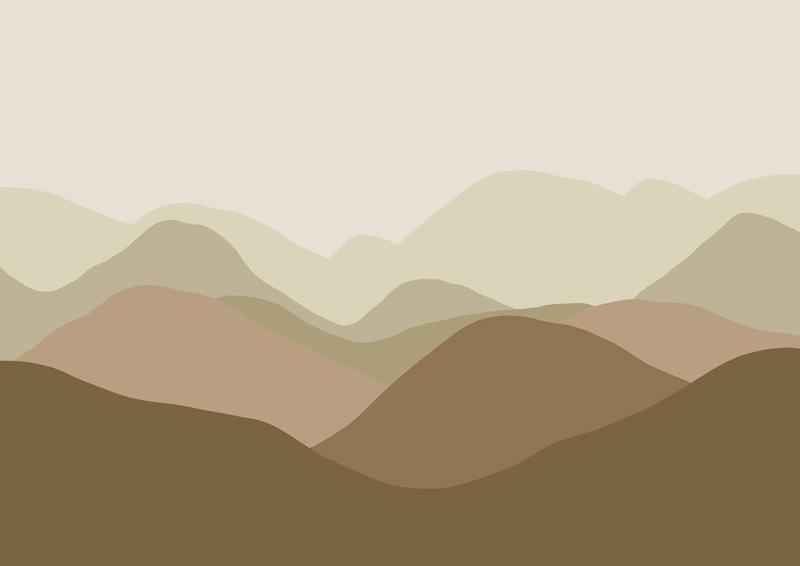 הרים מתרחקים גוון חום