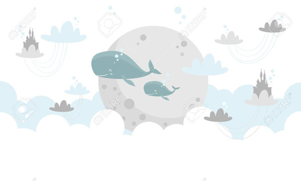 לוויתנים שמחים עפים