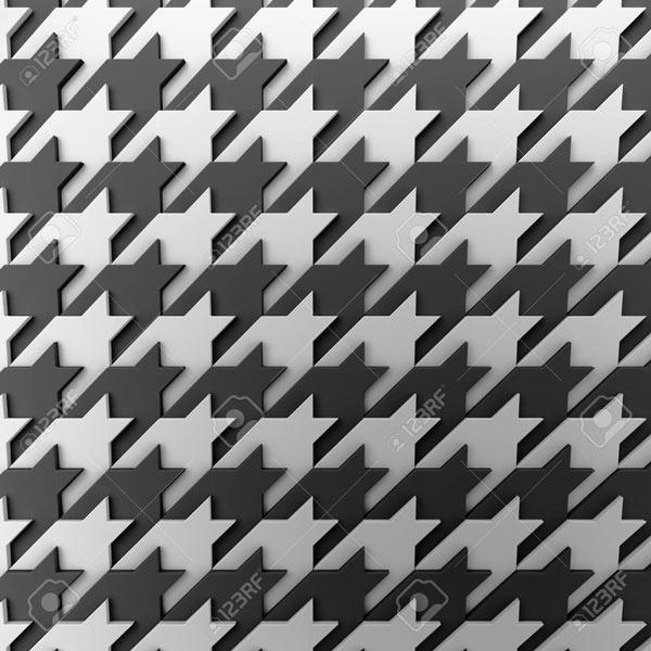 טפט פפיטה תלת מימד בשחור לבן
