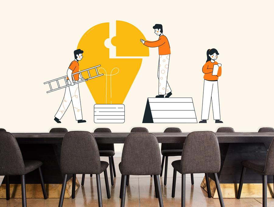 מדבקה - בניית רעיון