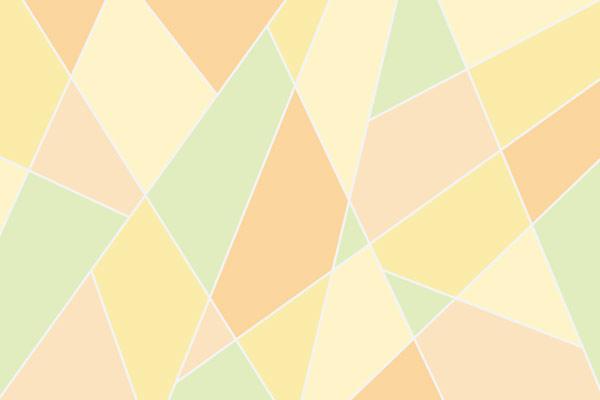 טפט - צורות חתוכות בגווני צהוב פסטל