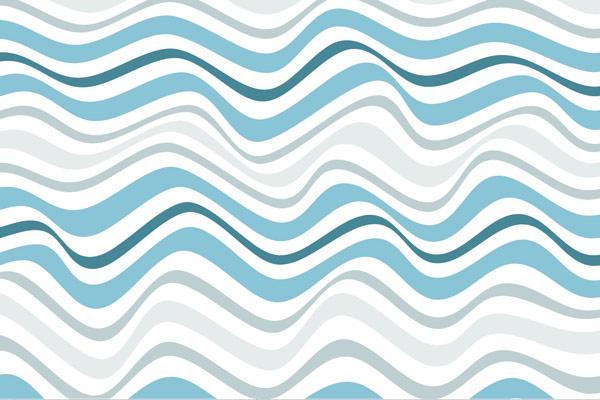 טפט - פסי גלים כחול