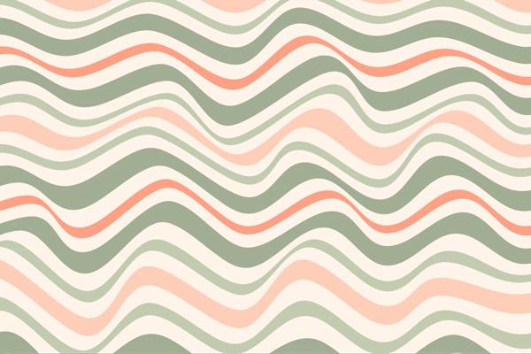 טפט - פסי גלים ורוד ירוק