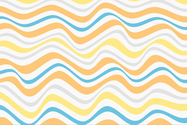 טפט - פסי גלים צהוב כחול