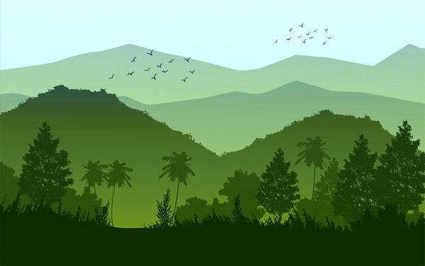 טפט - הרים ירוקים
