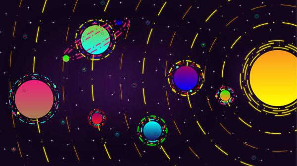 טפט -  מערכת השמש מעוצבת