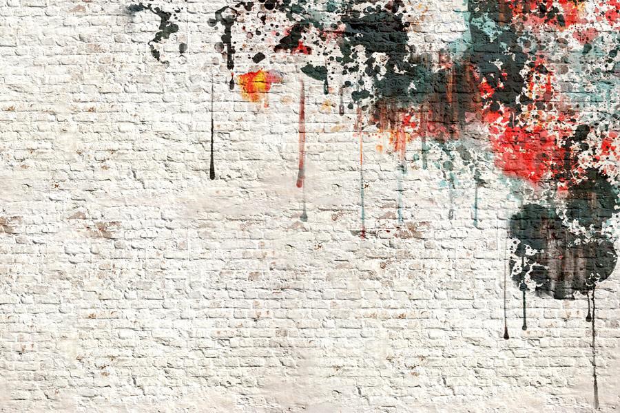 טפט - כתם צבע קיר בריקים