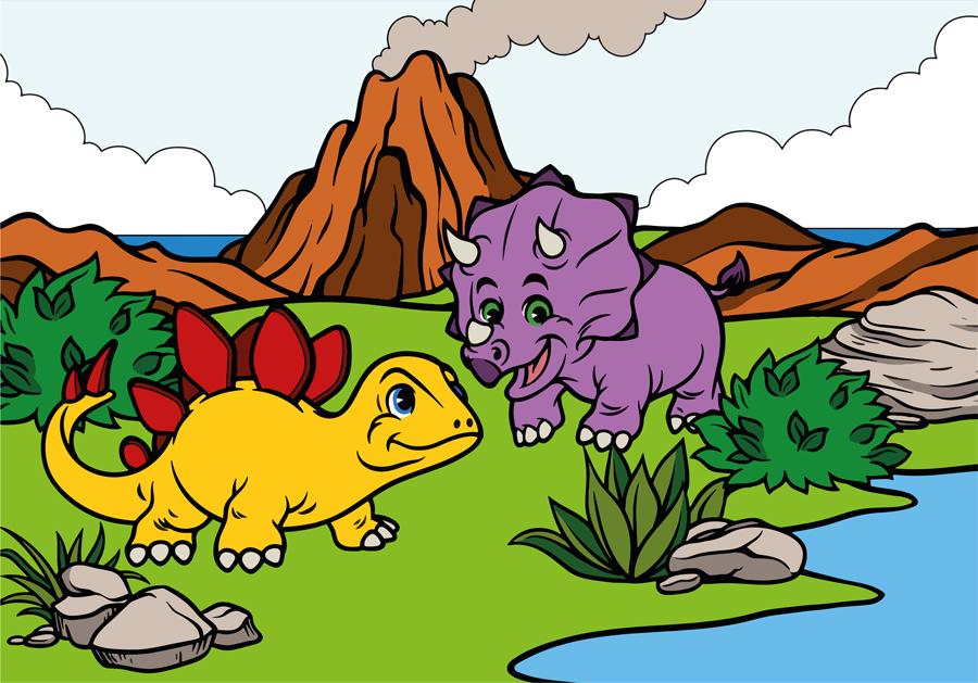 טפט - דינוזאורים חמודים