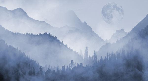 טפט - הרים מעוצבים כחולים