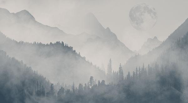 טפט - הרים מעוצבים גווני אפור