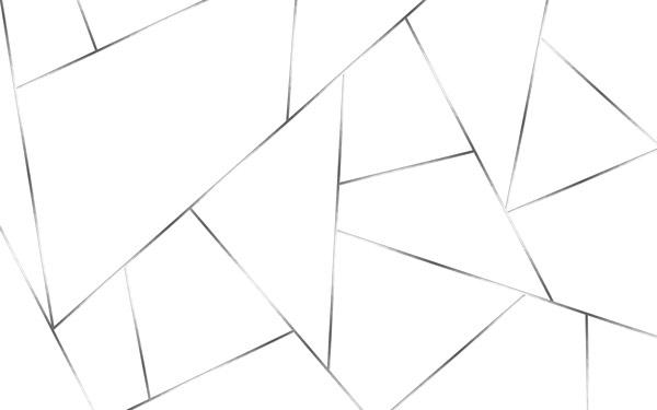 טפט - צורות מעוצבות לבן וכסף