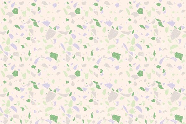 טפט - עיצוב מרצפת גווני סגול ירוק