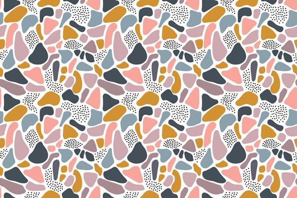 טפט - כתמים וצורות צבעוניות