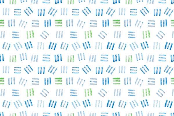 טפט - פסים קטנים כחול ירוק