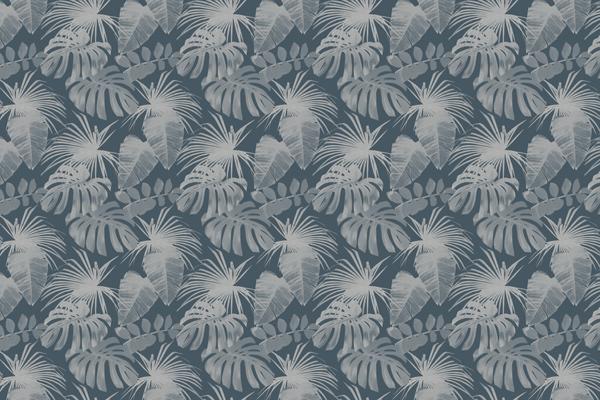 טפט - עלים מעוצבים גווני אפור