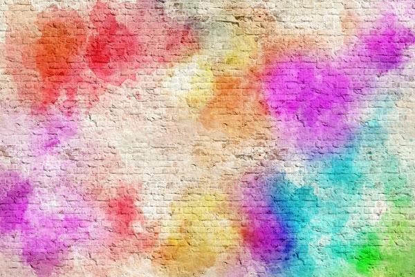 טפט - גרפיטי בריקים צבעוני