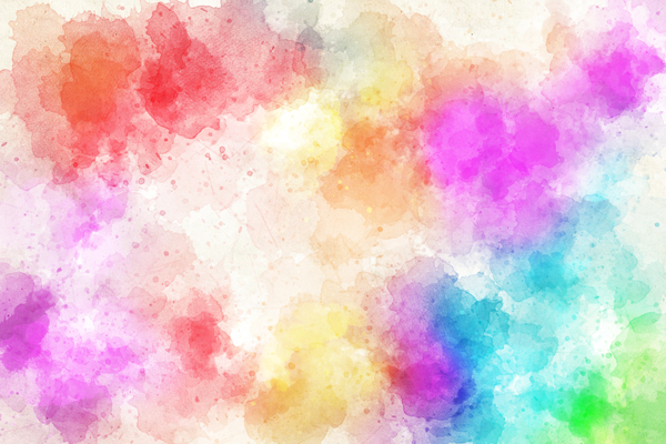 טפט - כתמי צבעי מים