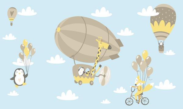 טפט - חיות מעופפות בשמים